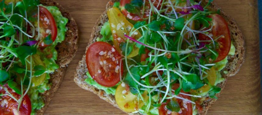 The Ninja Special Avocado Sprouted Toast