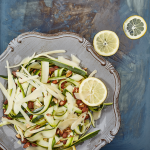 Garlic Courgette Ribbons with Almonds