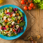 Raw Salad & Garlic Tofu with Lime